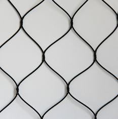 Knotted Stainless Steel Woven Wire Mesh Screen For Animals Protection